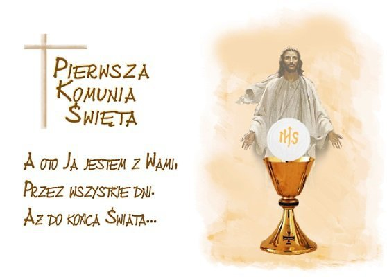 Opłatek waflowy na tort prostokątny KOMUNIA JEZUS