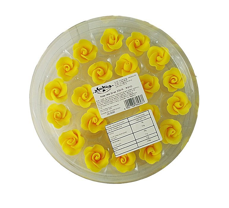 Róże cukrowe MAŁE 22szt żółte