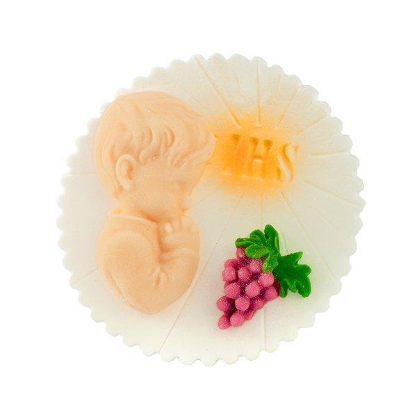 Dekoracja cukrowa na tort HOSTIA Z WINOGRONEM chłopiec