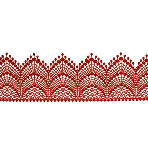 Cukrowa jadalna KORONKA do dekoracji tortu 120cm CZERWONA 01