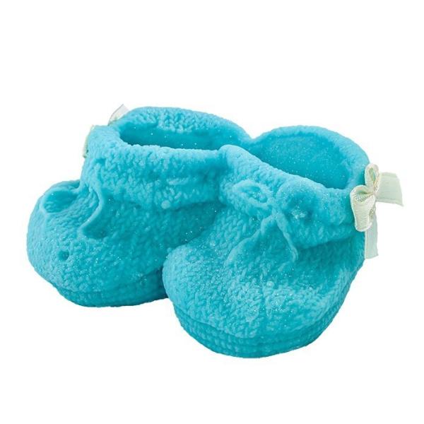 Cukrowe BUCIKI na tort CHRZEST baby shower niebieskie