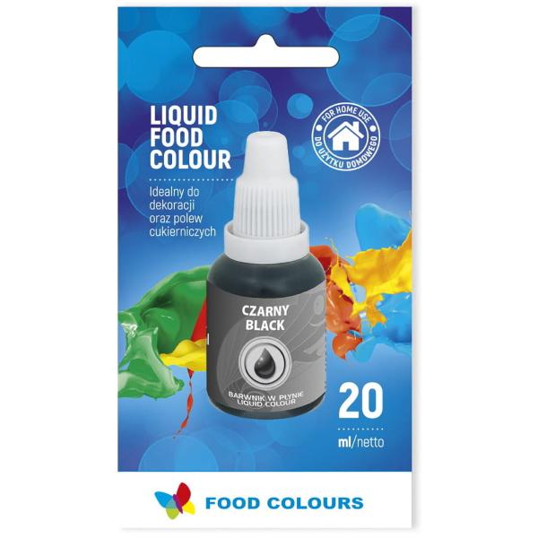 Barwnik spożywczy w płynie CZARNY 20ml - Food Colours