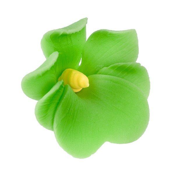 Miltonia kwiat cukrowy na tort 5cm zielony 1szt