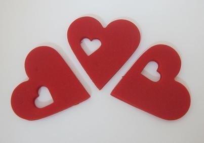 Dekoracja cukrowa SERCE z sercem