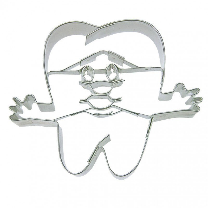 Wykrawacz FOREMKA do ciastek pierników WESOŁY ZĄBEK ząb 7cm
