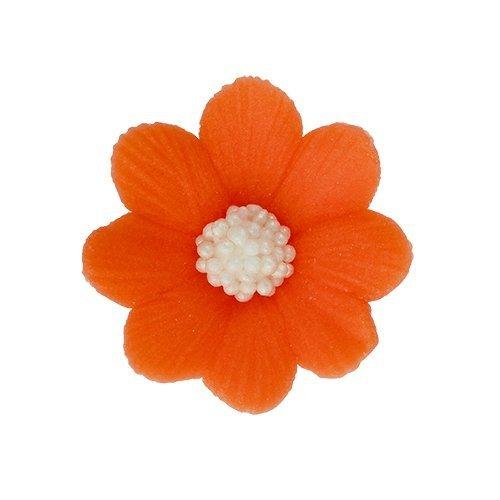 Kwiatki cukrowe POMARAŃCZOWE na tort MIŁEK 10szt