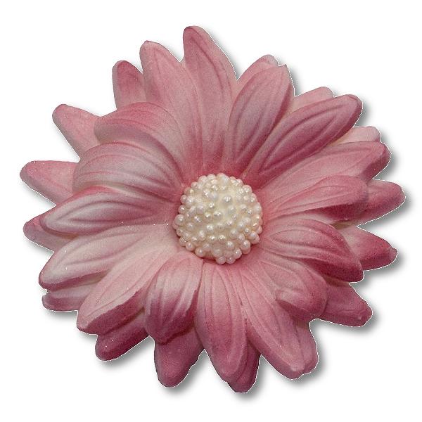 Kwiaty cukrowe MARGARETKA 10szt różowe