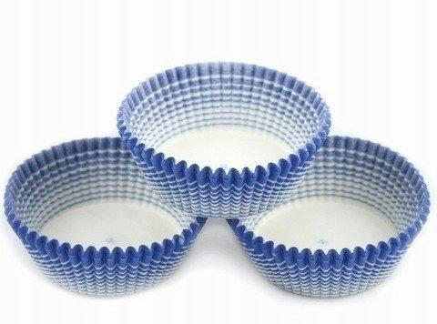 Papilotki foremki na muffinki 35mm niebieskie 50szt
