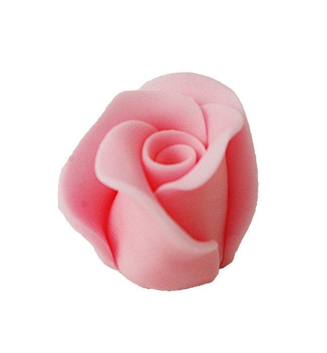 Róże cukrowe DUŻE 22szt różowe