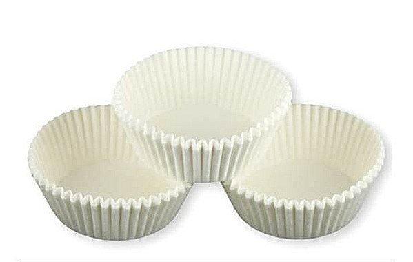 Papilotki foremki na muffinki 50mm białe 100szt