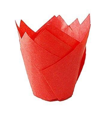 Papilotki na muffinki TULIPAN czerwone 50 szt