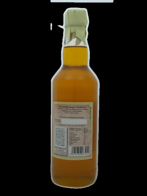 olej lniany 500 ml Na zdrowie! szkło