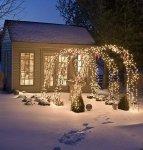 Piękny ogród na zimę