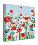 Cornflowers & Poppies - Obraz na płótnie
