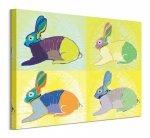 Rabbits Round The Clock - obraz na płótnie