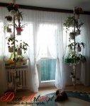 Kwietnik metalowy - Stojak na kwiaty - Rozporowy 15 D