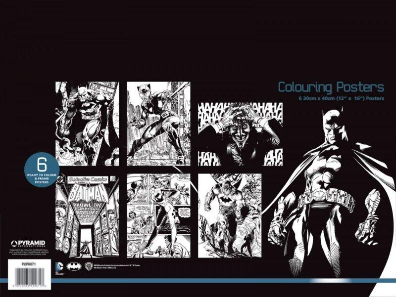 Dc Comics Batman Plakaty Do Kolorowania