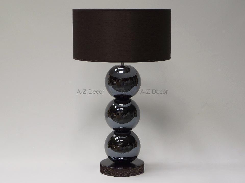 Lampa Stołowa Trzy Perły Brąz 40x68cm Lampy Stołowe