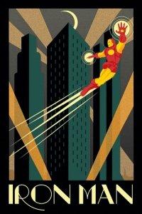 Marvel Deco Latający Iron Man - plakat