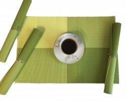 Podkładki na stół - Limonkowo, Zielono, Zółte - Kolorowe - Komplet 4szt