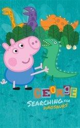 Fototapeta dla dzieci - Peppa Pig George - 3D - 244x152cm