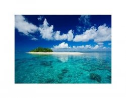 Tropical island vacation paradise - reprodukcja