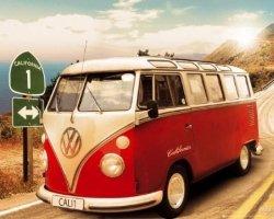 Volkswagen Camper - plakat
