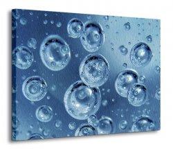 Obraz na płótnie - Wodne bańki - 120x90 cm