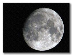 Obraz na płótnie - Księżyc - 120x90 cm
