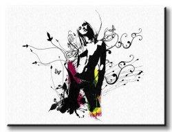 Obraz na ścianę - Dziewczyna abstrakcja - 120x90 cm