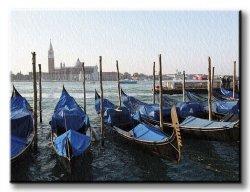 Obraz na płótnie - Wenecja, gondole - 120x90 cm