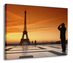 Obraz na ścianę - Wieża Eiffel, Paryż - 120x90 cm