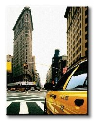 Obraz ścienny - Pochmurny New York - 90x120 cm
