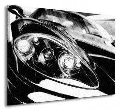 Obraz ścienny - Czarny Sportowy Samochód - 80x60 cm