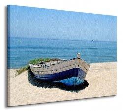 Obraz ścienny - Stara zapomniana łódź - 80x60 cm