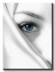 Obraz do salonu - Tajemniczy błękit - 60x80 cm