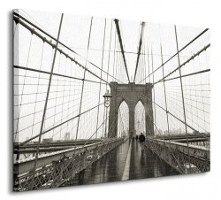 Brooklyn Bridge, Wide Angle - Obraz na płótnie