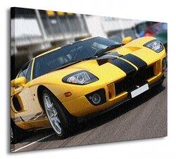 Super car at race circuit - Obraz na płótnie