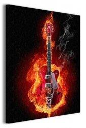 Ognista gitara - Obraz na płótnie