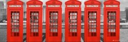 London Phoneboxes - plakat