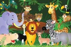 Fototapeta dla dzieci - Dzikie zwierzaki - 175x115 cm