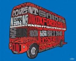 Visit London (Routemaster) - Czerowny autobus - plakat