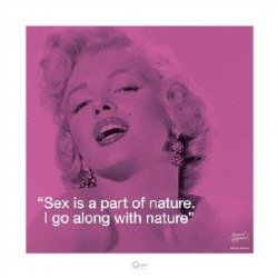 Marilyn Monroe (I.Quote - Sex) - reprodukcja
