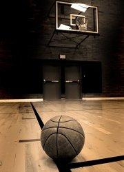 Fototapeta na ścianę  - Basketball on court - 183x254 cm