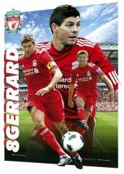 Liverpool Steven Gerrard 10/11 - reprodukcja z efektem 3d