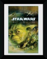 Obraz w ramie - Star Wars Blu Ray Prequel - 30x40cm