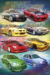 Max Power street racers - plakat
