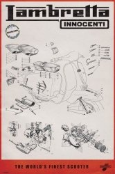 Lambretta (Line Drawing) - plakat