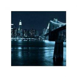 Manhattan, Brooklyn Bridge nocą - reprodukcja