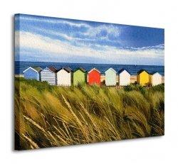 Beach Huts, Southwold - Obraz na płótnie
